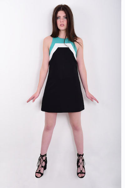 DandyLife 60s Style Colour Block Mini Dress