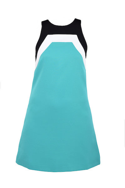 DandyLife 60s Mod Mini Dress - Teal