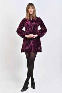 60s Style 'Wioletta' Dress in Purple Velvet