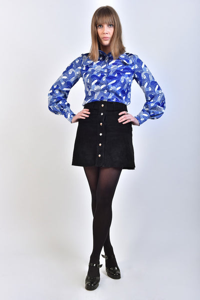 DandyLife 60s 70s Printed Blouse