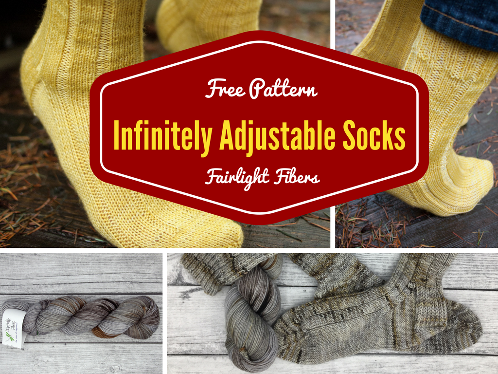 Free Patterns: Infinitely Adjustable Socks