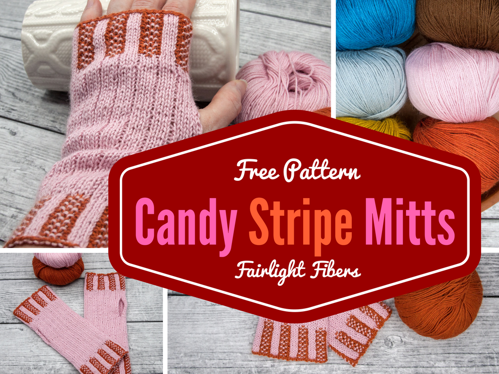 Free Patterns: Candy Stripe Mitts