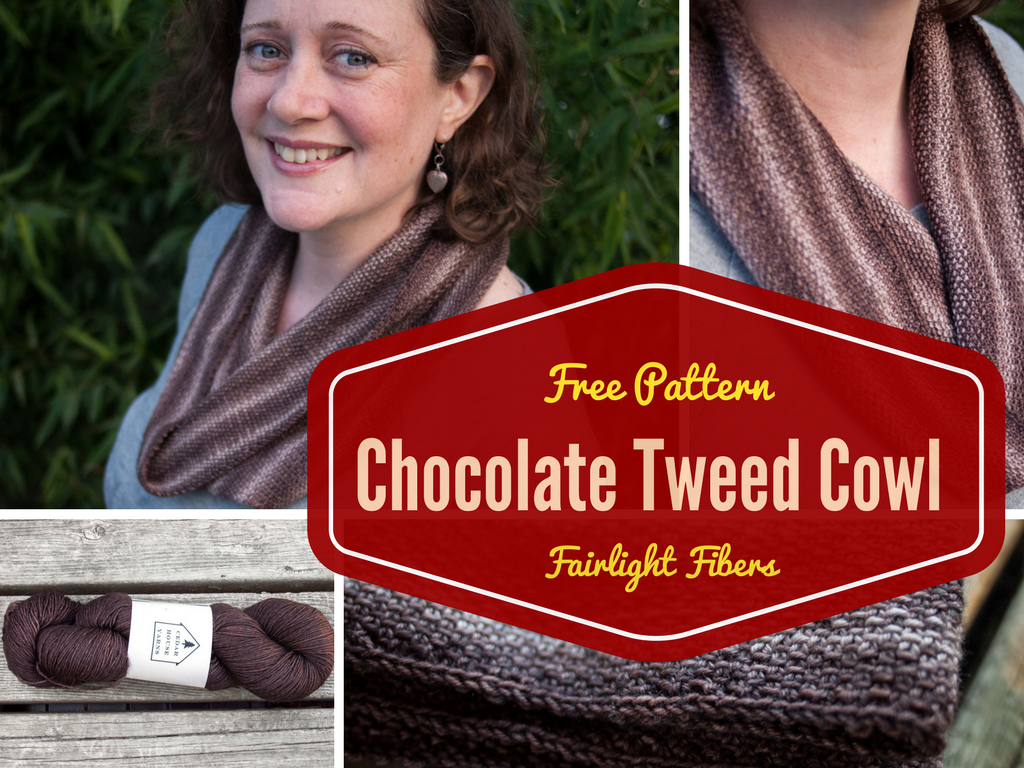 Free Patterns: Chocolate Tweed Cowl