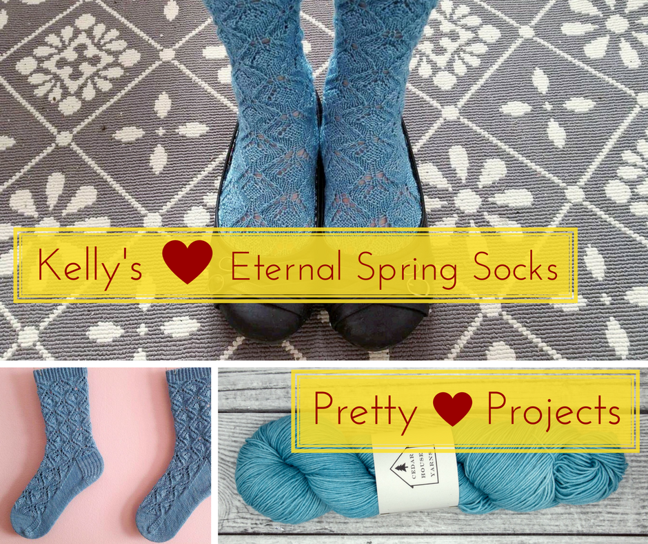 Pretty Projects: Kelly's Eternal Spring Socks