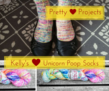 Pretty Projects: Kelly's Unicorn Poop Socks!