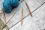 "Addi 16"" Olive Wood Circular Needles - Fairlight Fibers"