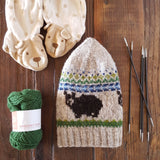 Briana Thompson Designs' Black Bears on Wind Mountain Beanie Pattern - Fairlight Fibers