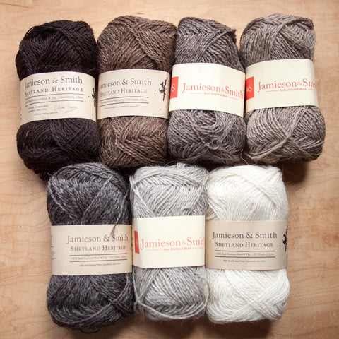 Jamieson & Smith Shetland Heritage Naturals - Fairlight Fibers