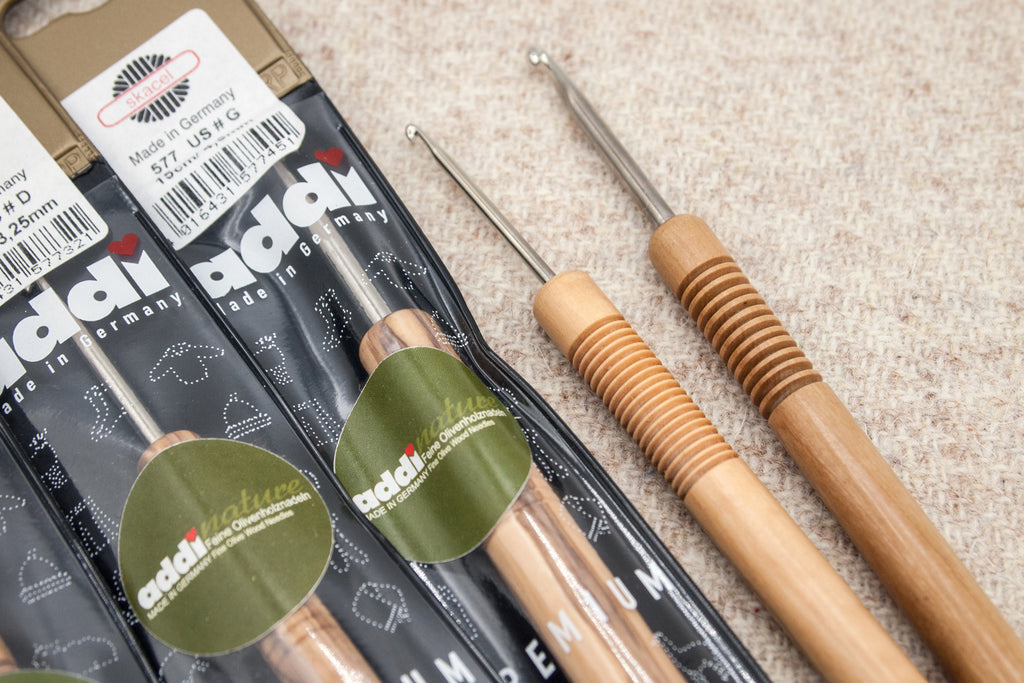 Addi Olive Wood Crochet Hooks - Fairlight Fibers