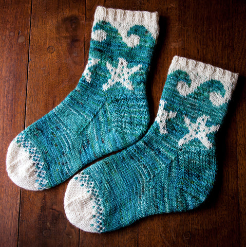 San Juan Island Socks Pattern: Fairlight Fibers - Fairlight Fibers