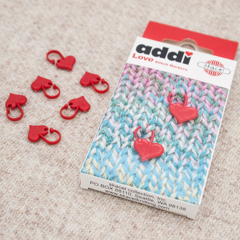 Addi addiLove Heart Stitch Markers - Fairlight Fibers