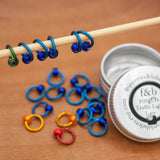 Fripperies & Bibelots Traffic Light Lace ringOs Stitch Markers - Fairlight Fibers