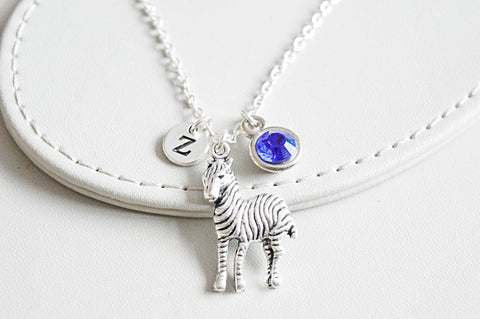 Zebra Necklace, Zebra Gift, Zebra Jewelry, Personalized Zebra , Trendy Gift for her, Trendy jewelry, Safari Necklace, Animal gift for her