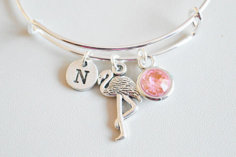 Flamingo Gifts, Flamingo Jewellery, Animal Gifts, Pink Flamingo, Flamingo Bracelet, Bird , Flamingo Pendant,  Bird Jewelry, Fashion
