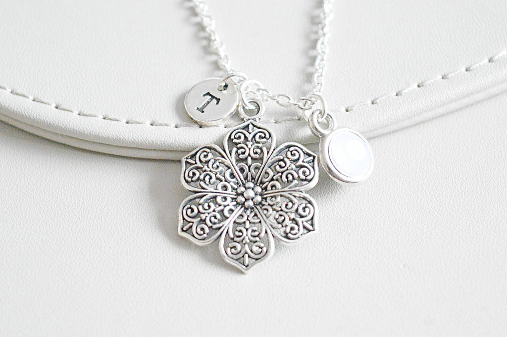 Flower Charm Necklace - YouLoveYouShop