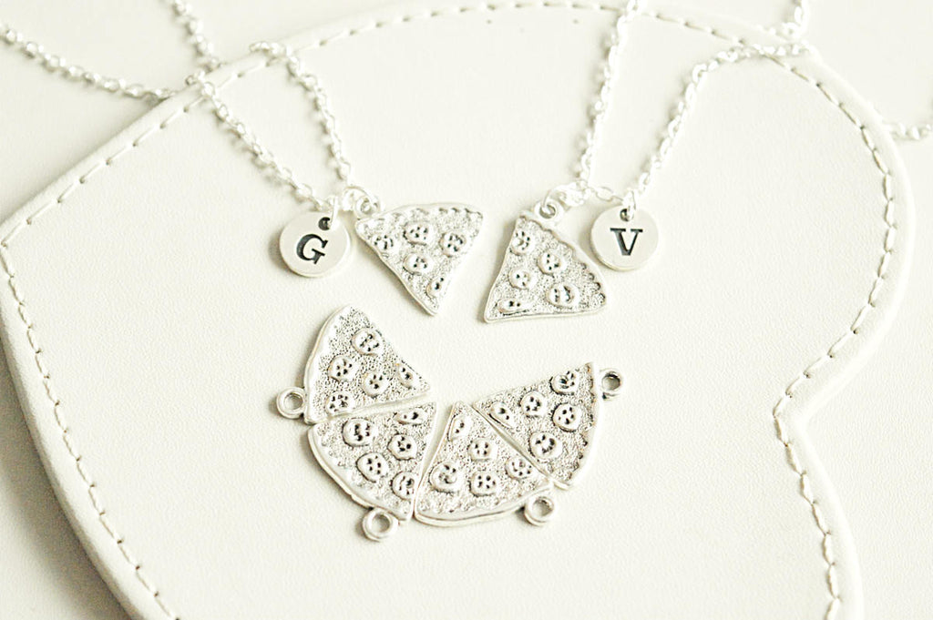 Friends necklace set , Pizza Necklace, Best Friend Necklace set, BFF Gift, Pizza Friendship Necklace, One Slice, Pizza Slice, Pizza Jewelry - YouLoveYouShop