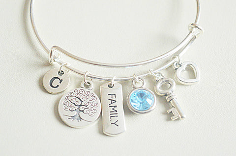 Christmas gift for Sister, Christmas gift for Aunt, Sister gift, Sister bangle, Family gifts, Tree of life,  Aunt gifts , Nana gifts, In Law - YouLoveYouShop