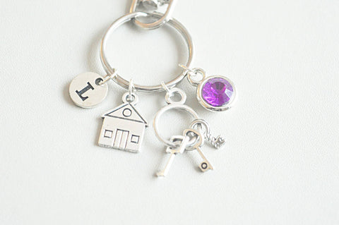 Housewarming gift, first home gift, new home gift, first home, first house key ring, personalized housewarming gifts, my first home keyring