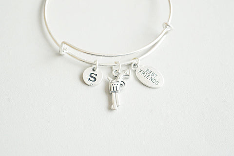 Partner in crime, Partners in crime gift, Friends bracelet, Friendship bangle, Personalized best friend gift, Bff in crime, Cousin Bracelet - YouLoveYouShop
