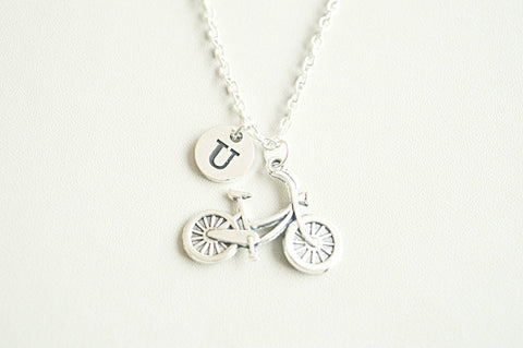 Cycle necklace, Bicycle gifts, Bicycle necklace, Cycle Jewelry, Cycling gift, Gift for cyclist, Bicycle jewelry, Cycling Jewelry, Silver - YouLoveYouShop