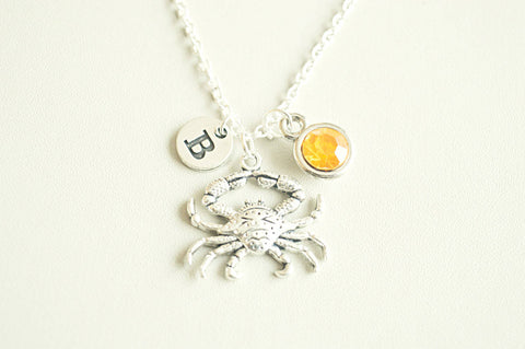 Crab Jewellery, Crab Necklace, Crab Gifts, Lobster, Crab charm Necklace, Silver Crab Charm, Ocean Charm, Seafood lover,Sea life,beach,Animal
