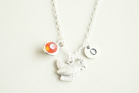 Chicken Jewellery, Chicken Necklace, Chicken Gifts, Chicken charm Necklace, Silver Chicken Charm, Farmer, Chicken farming, Animal, Chick,Hen
