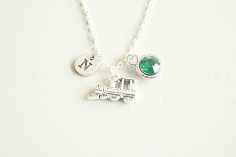 Train Jewellery, Train Necklace, Train Gifts, Transport Gift, Locomotive Necklace, Silver Train Charm, Rail track, Train lover, Travel,Steam