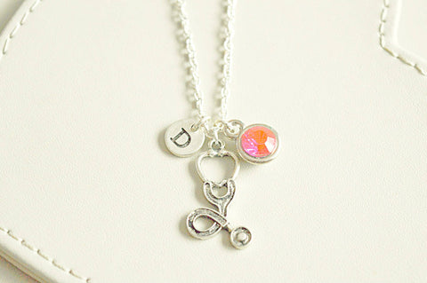 Stethoscope Necklace, Doctor Necklace, Gift for Doctor, Stethoscope charm, Doctor graduation gift,  Stethoscope Necklace, Medical Student