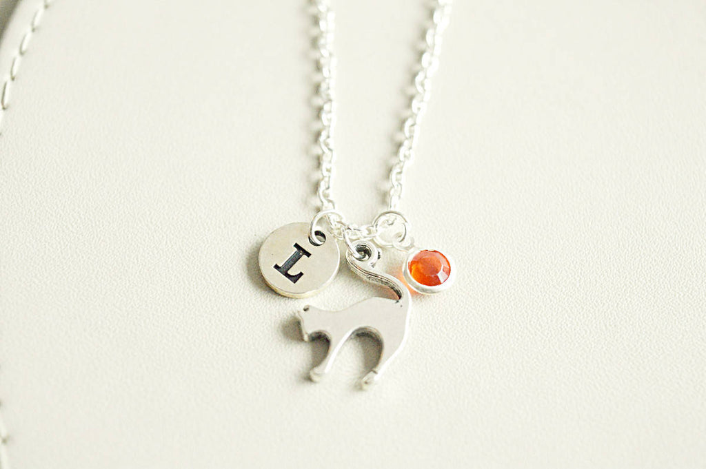 Silver Cat necklace - YouLoveYouShop