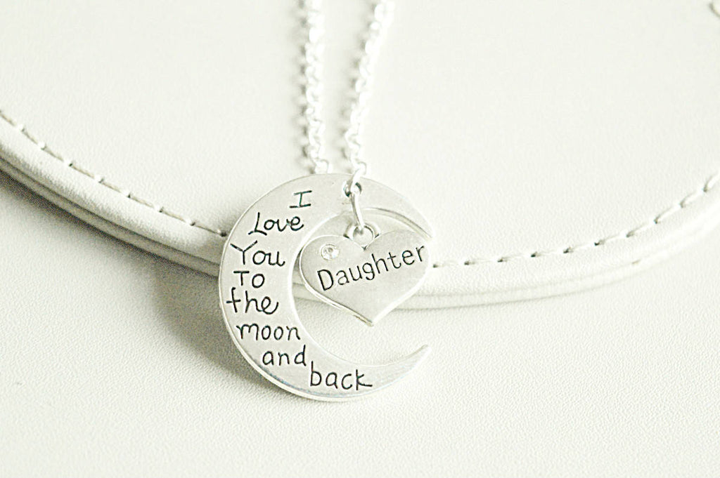 Moon and Back Daughter Necklace - YouLoveYouShop