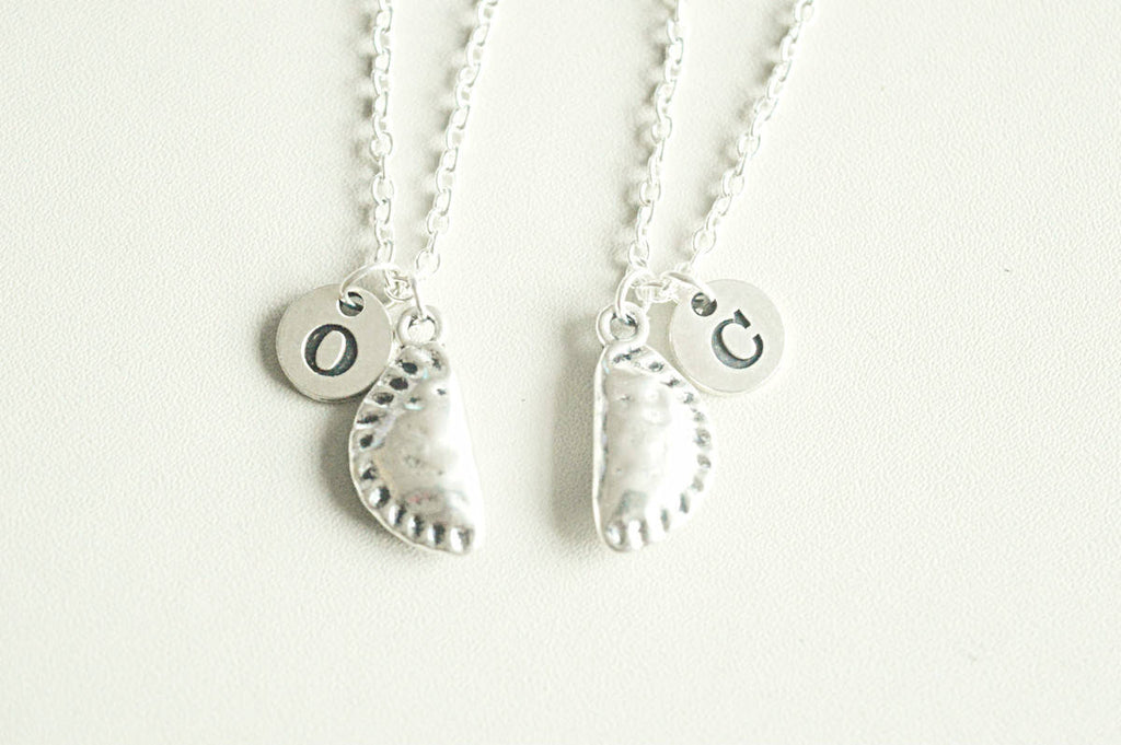 Food charm necklace, 2 3 4 5 6 7 8 Best friend necklace,  bff necklace, friend necklace, friendship jewelry, Pie, Pizza, Pastry, Pasty, Set