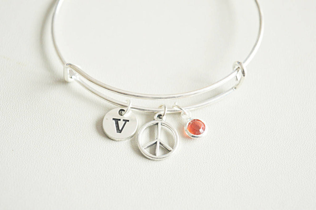 Peace Silver Bracelet - YouLoveYouShop