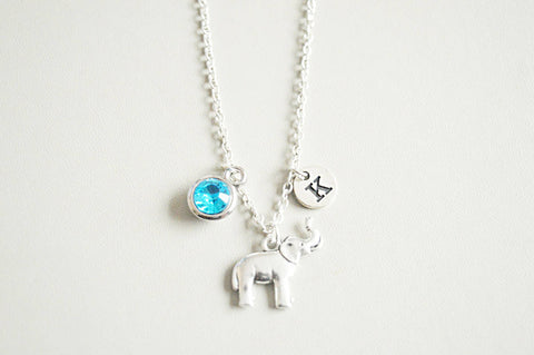 Elephant Necklace, Elephant Jewelry, Personalized Gift, Elephant jewelry, Animal Necklace, Necklace with charm, Elephant, Elephant gift