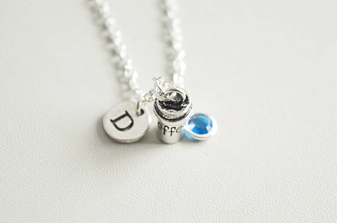 Coffee necklace, Coffee charm, Coffee jewelry, Coffee Gift, Coffee lover gift, Coffee lover, Birthday, Christmas, Coffee drinker, Italian