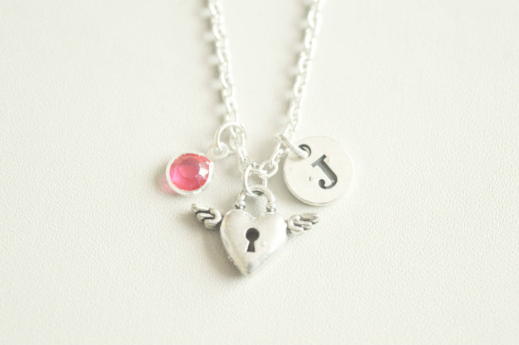 Silver Lock Necklace - YouLoveYouShop