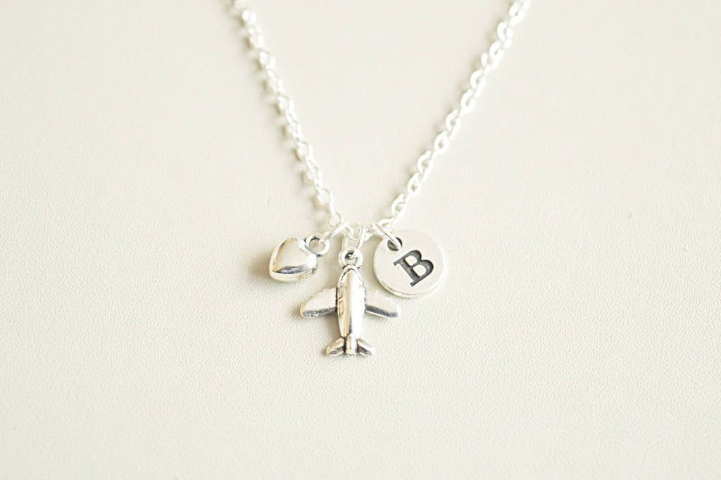 Tiny Airplane Necklace - YouLoveYouShop