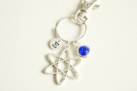 Atom Keyring, Atom Keychain, Joyeria científica, Physics gift, Science Gift, Physics jewelry, Chemistry gift, Gift for her, Gift for him