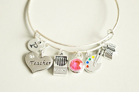 Nursery teacher gift, Pre School Teacher Gifts, Daycare Appreciation Gift, Teacher Bracelet, Art teacher Gift, Nursery teacher gift, School