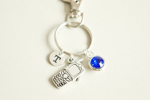 Cell Phone keyring, Mobile Phone keyring, Telephone key chain, Gift for her, Cellphone charm, phone Gift, phone charm, Cell Phone Addict