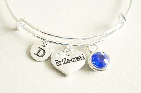 Bridesmaid Charm Bangle - YouLoveYouShop