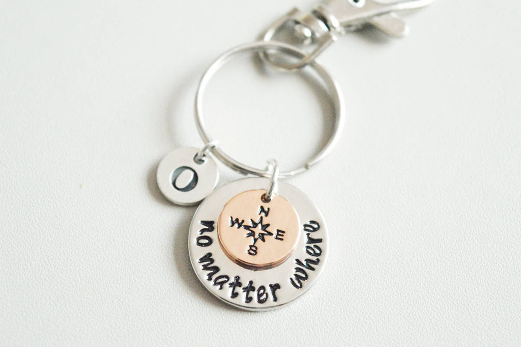 No Matter Where Keychain - YouLoveYouShop