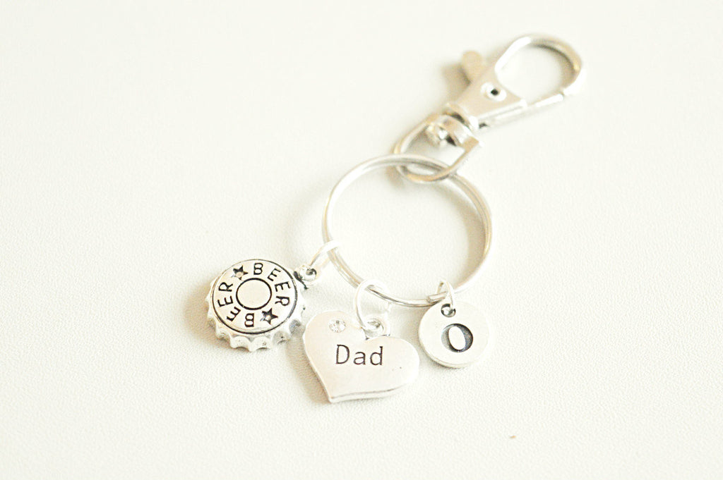 Dad Birthday gift, Dad Keychain gift, Dad keyring, Beer gift for Dad, Fathers day, Father Birthday, New Dad Gift, Keychain for him, Dad gift