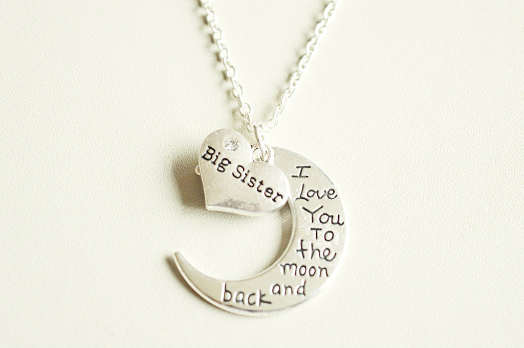 Moon and Back Big Sister Necklace - YouLoveYouShop