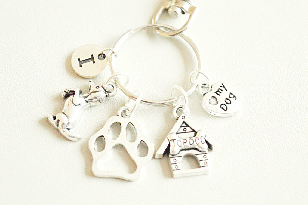 Pet loss gifts, Dog Keychain, Dog gifts, Dog loss gift, Paw print Key chain, Paw Key ring, Personalized pet Gift,Dog lovers gift, Kennel