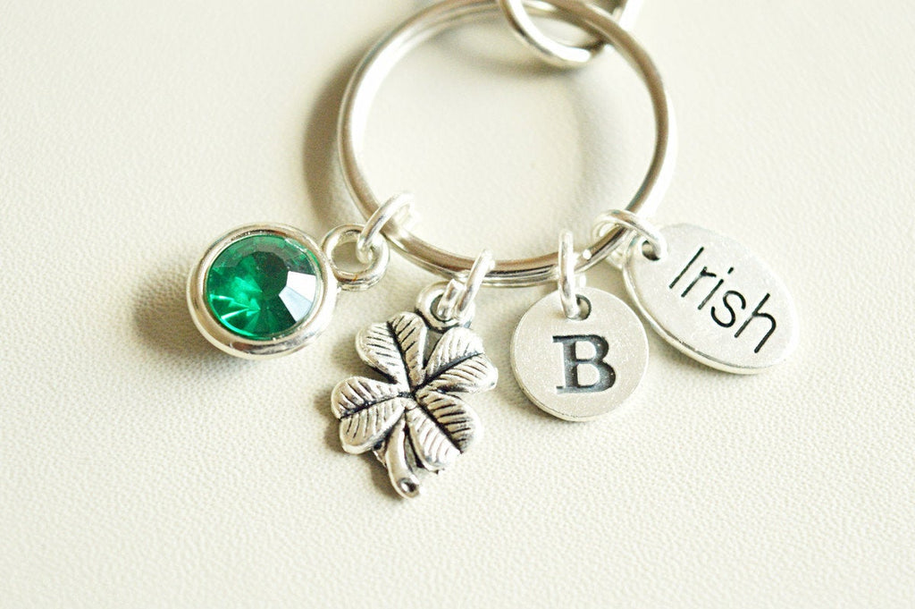 Irish Keychain, Irish Gift, Ireland, Irish Friend, Shamrock Keychain, Shamrock Gifts, Shamrock Jewellery, Lucky Clover, Four Leaf Clover