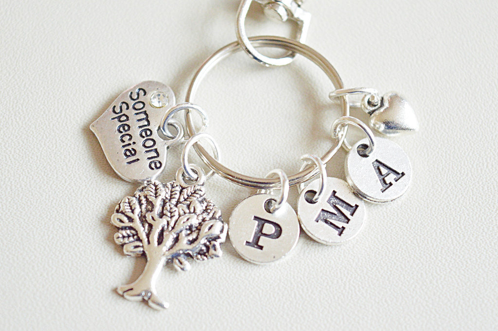 Family Tree Keychain, Personalized gift for her, Special someone gift, gift for mom mum mother, Family Tree Gift, Tree of Life, Gift Ideas