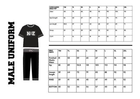 Size Guide - Boys Uniform
