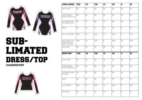 Size Guide - CheerSport