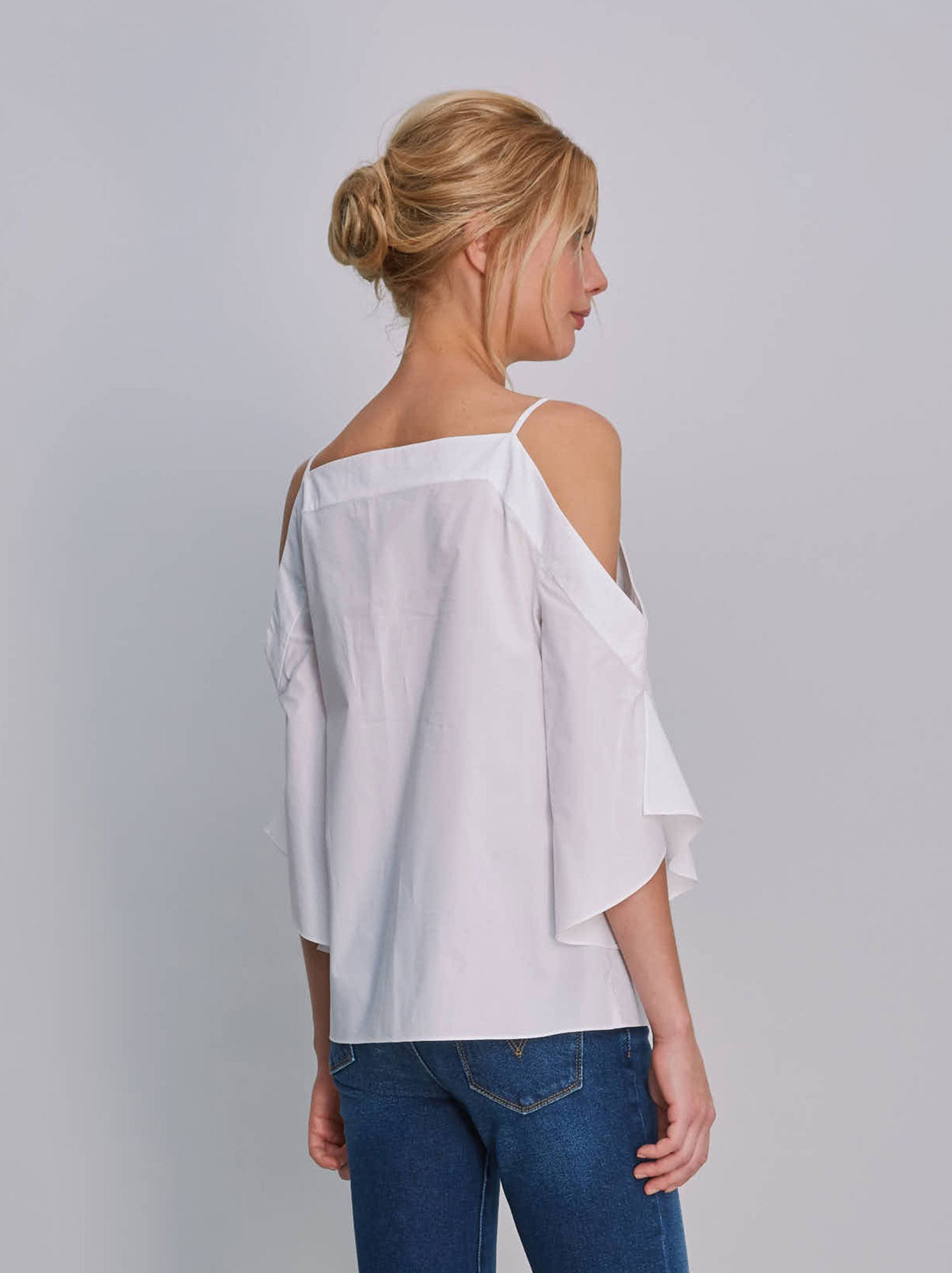 Alice & Trixie White Cotton Sosie Top back view