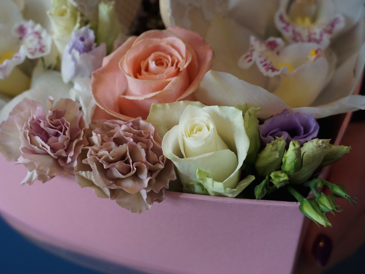 DIFFERENT FLOWERS IN A BOX / 15 /